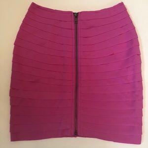 NWT Pink zipper pleated miniskirt Silence & Noise